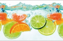 Фартук кухонный ABS  фрукты на воде